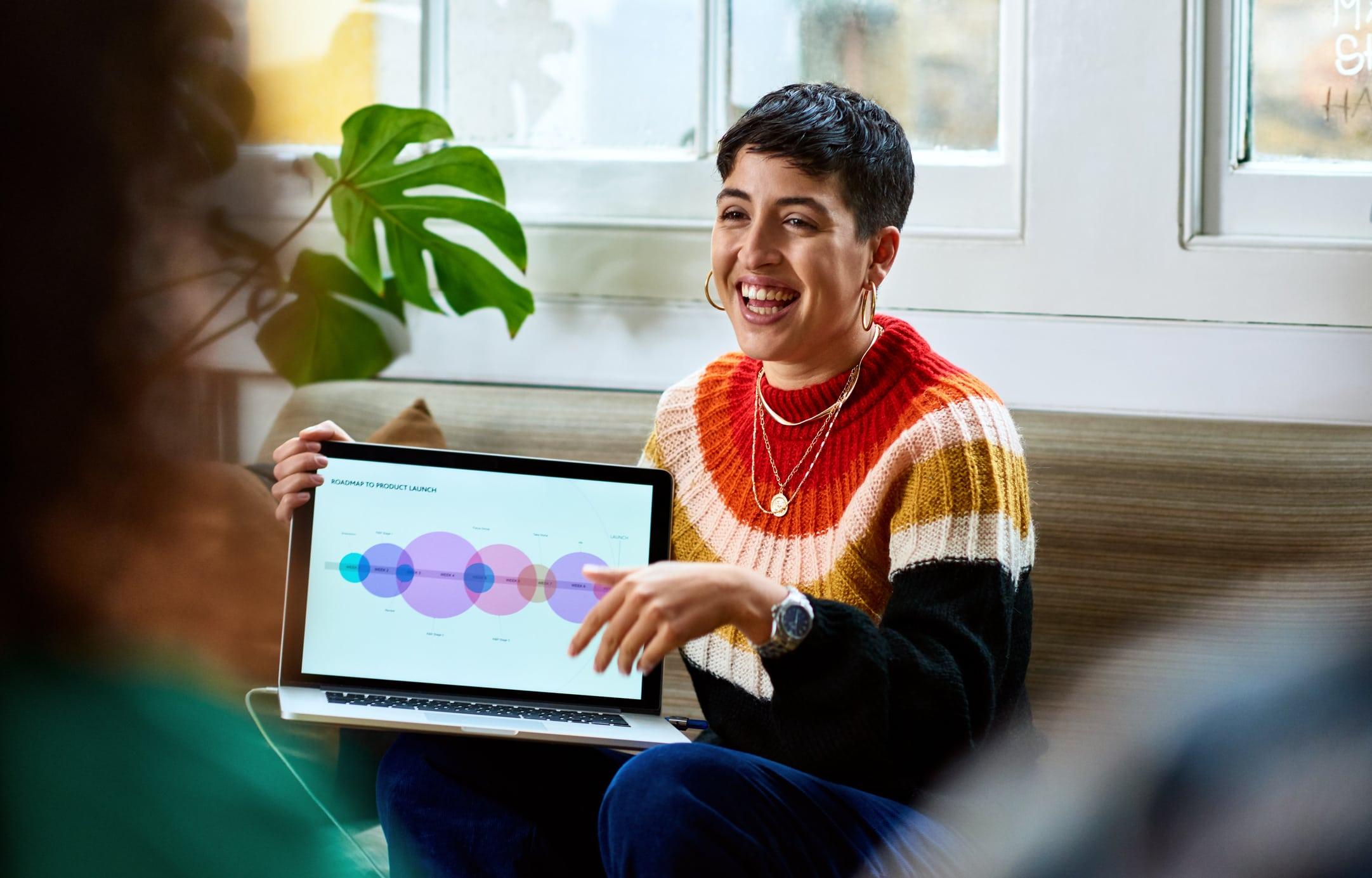 startup-ideen innovation frau laptop