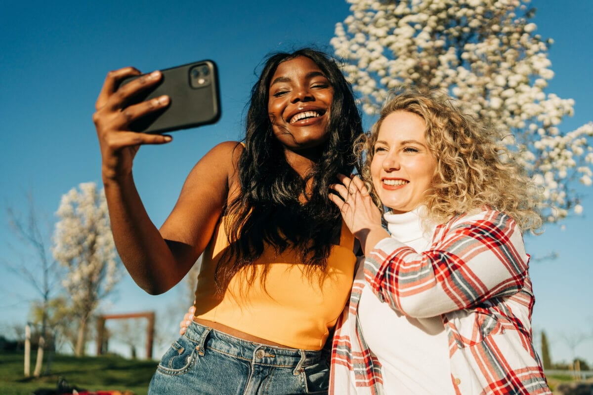 Frauen Selfie
