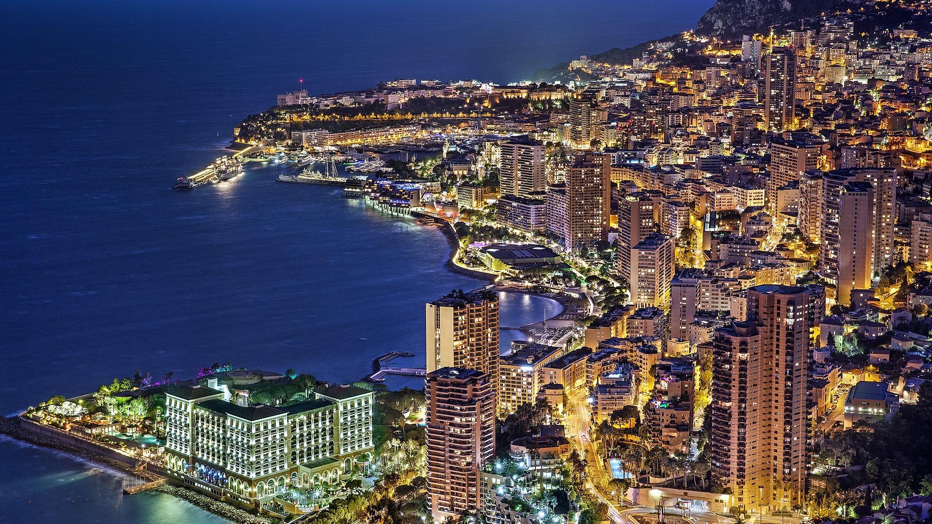 Der Stadtstaat Monaco an der französischen Küste