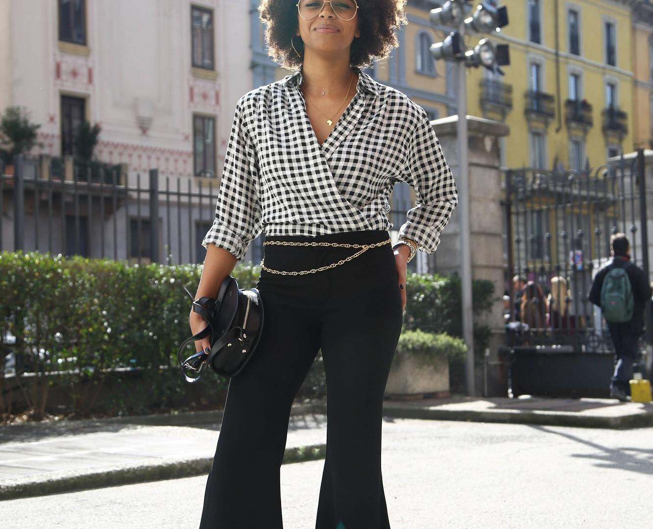 Aminata Belli auf der Fashion Week