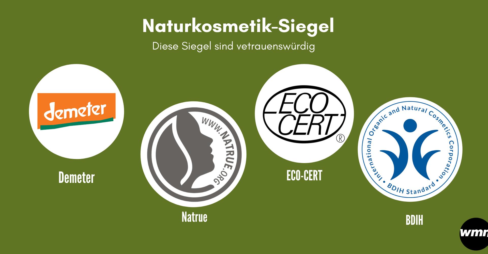 Übersicht der Naturkosmetik-Siegel