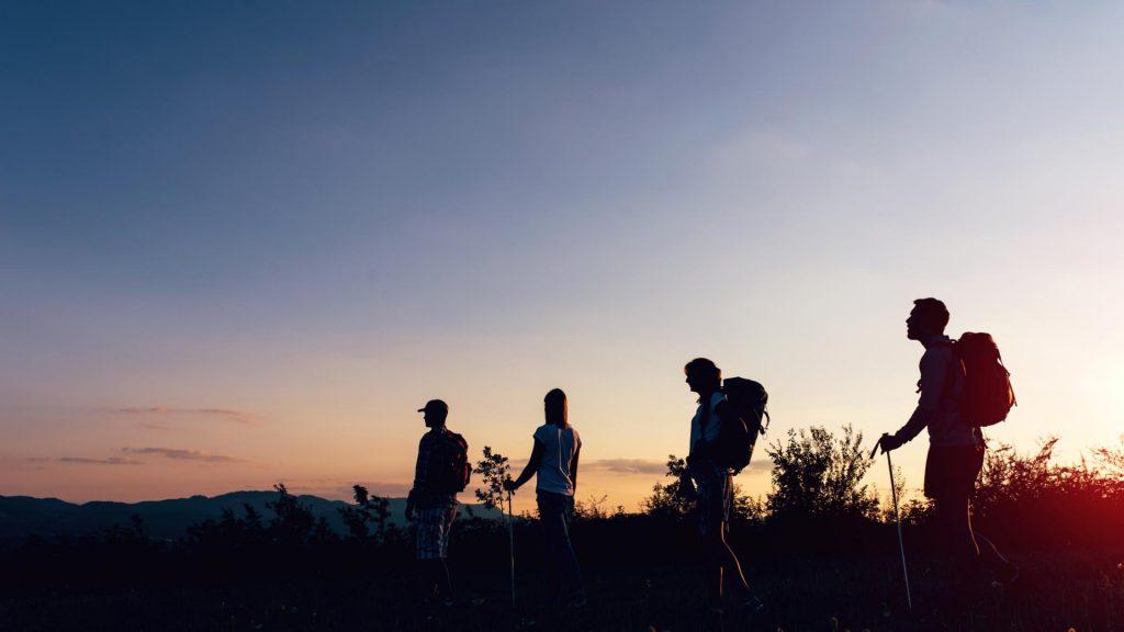 4 Wanderer in der Natur