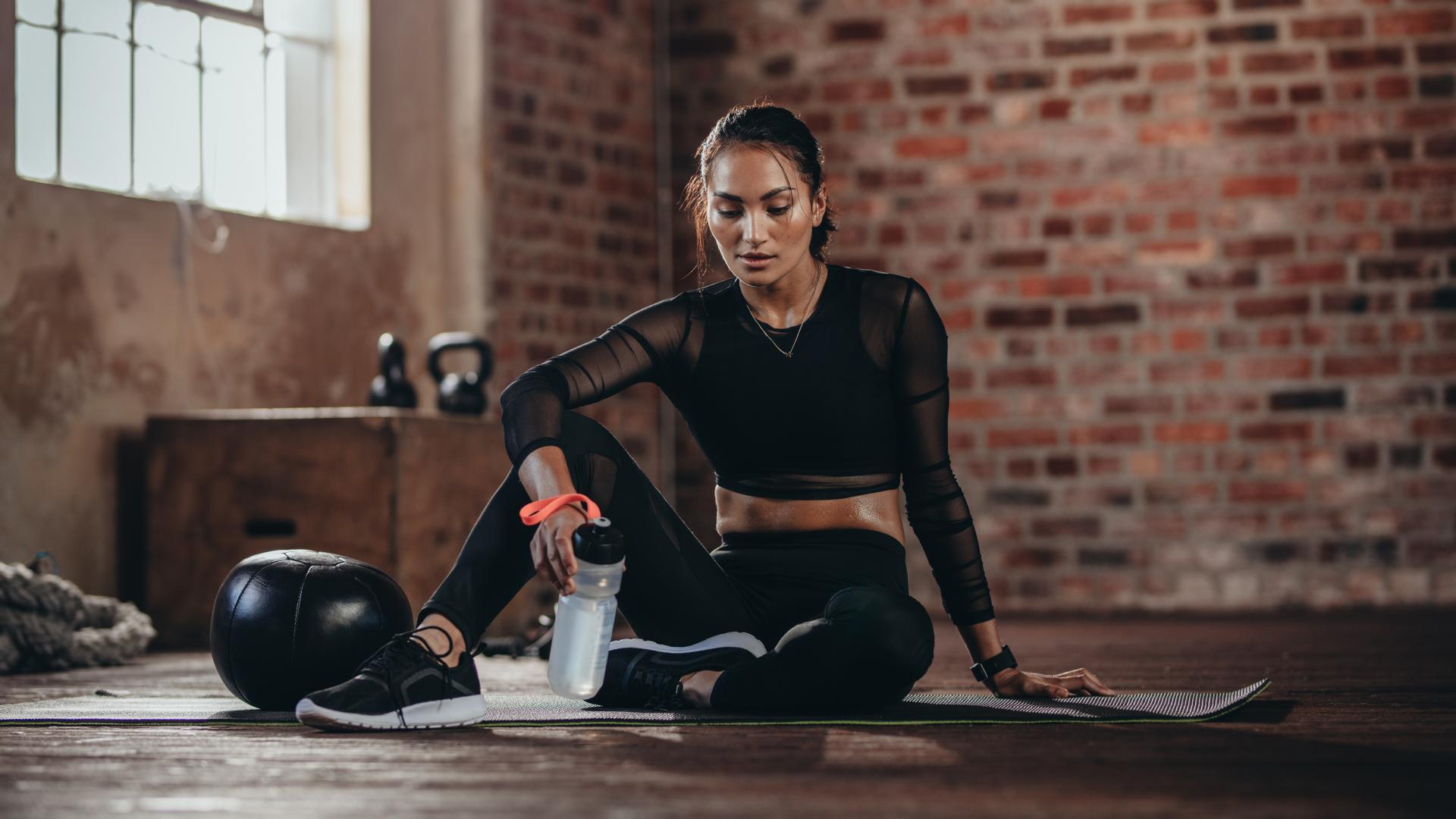 Frau nach Work out