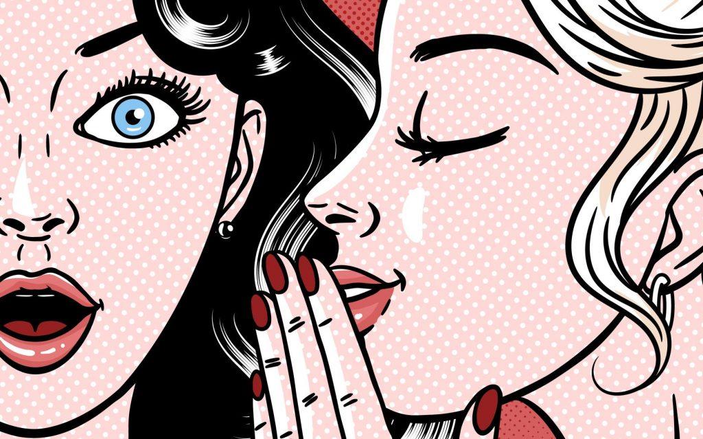 Comic Frauen lästern Arbeitskollegen