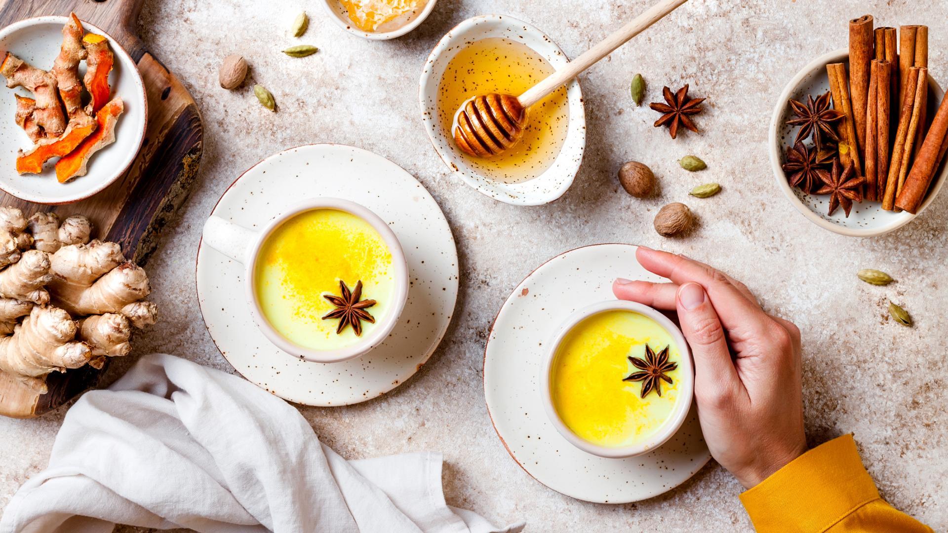 Goldene Milch Kurkuma Latte Zimt Ingwer Wirkung
