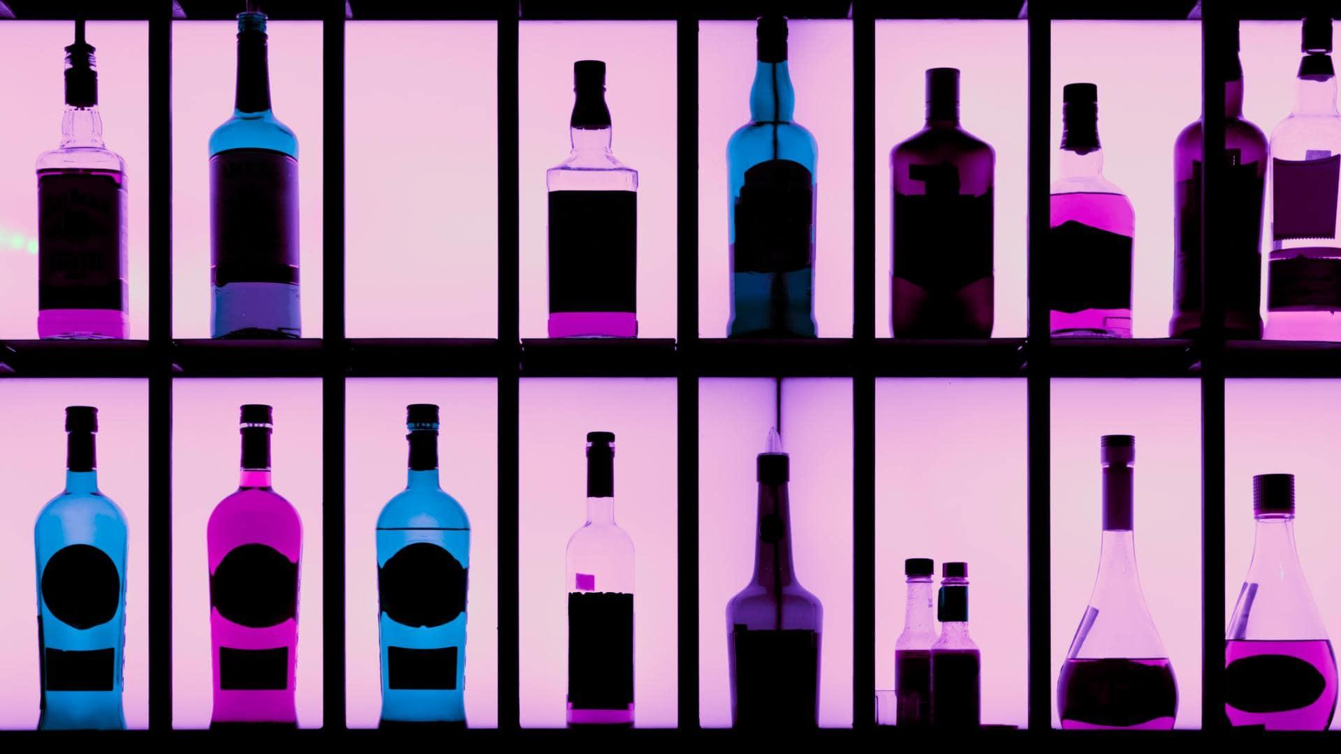 Alkohol Bar Flaschen