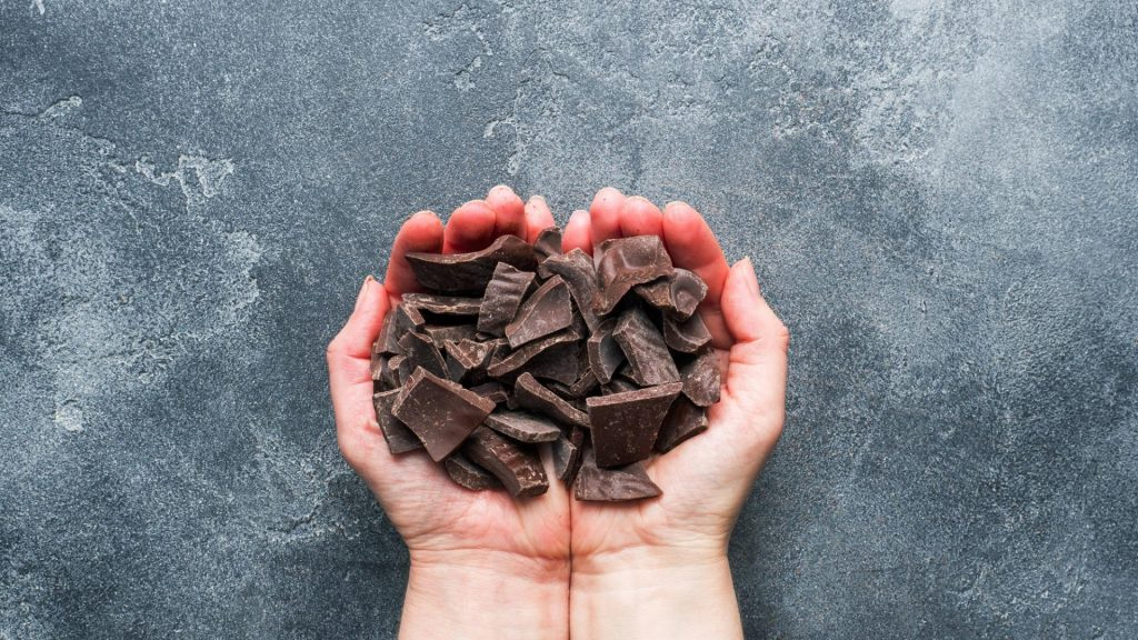 Hände Schokolade