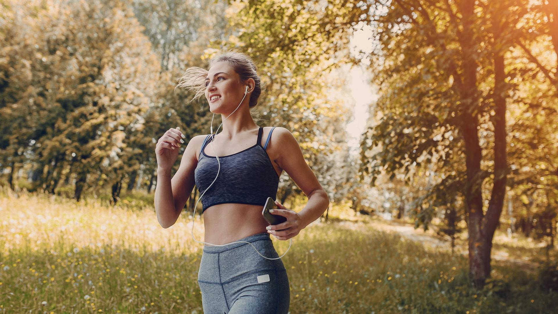 Frau mit Sport Motivation
