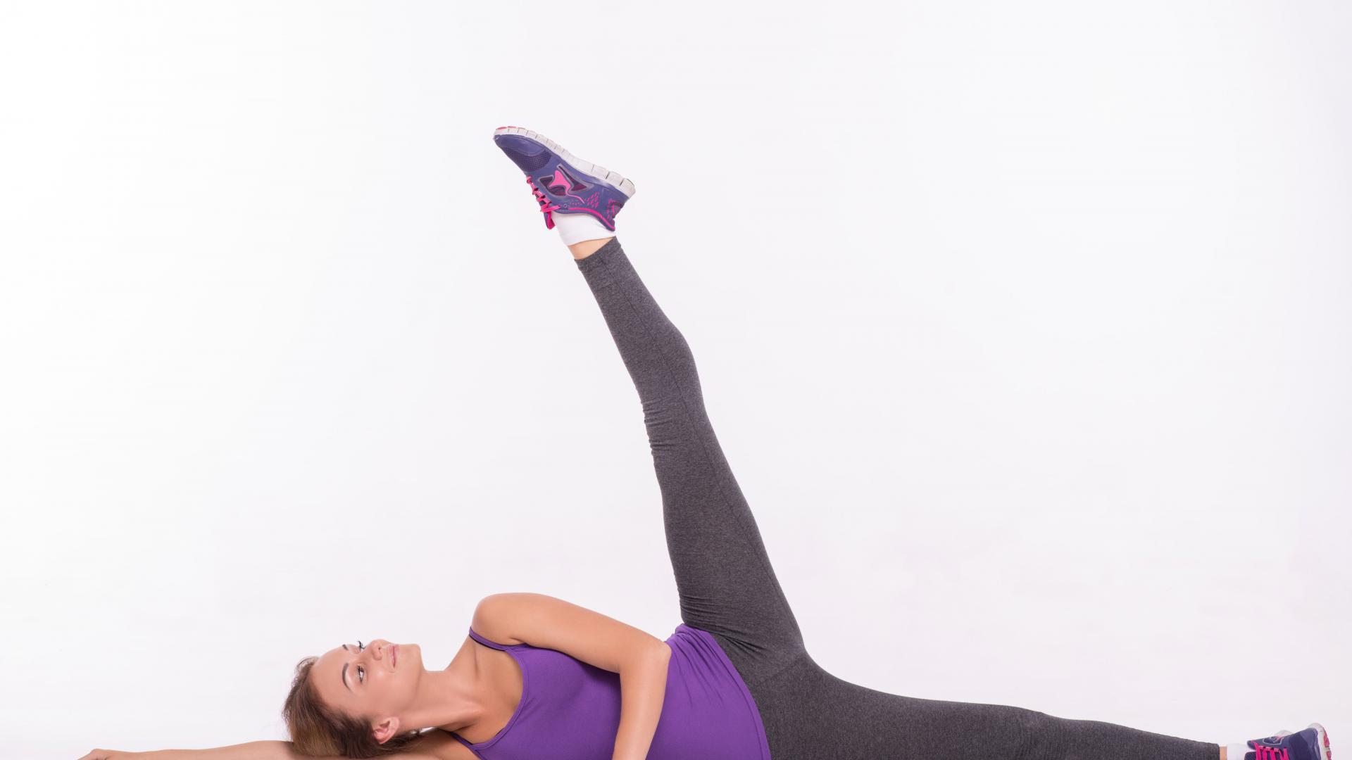 Beine trainieren mit Seitheber