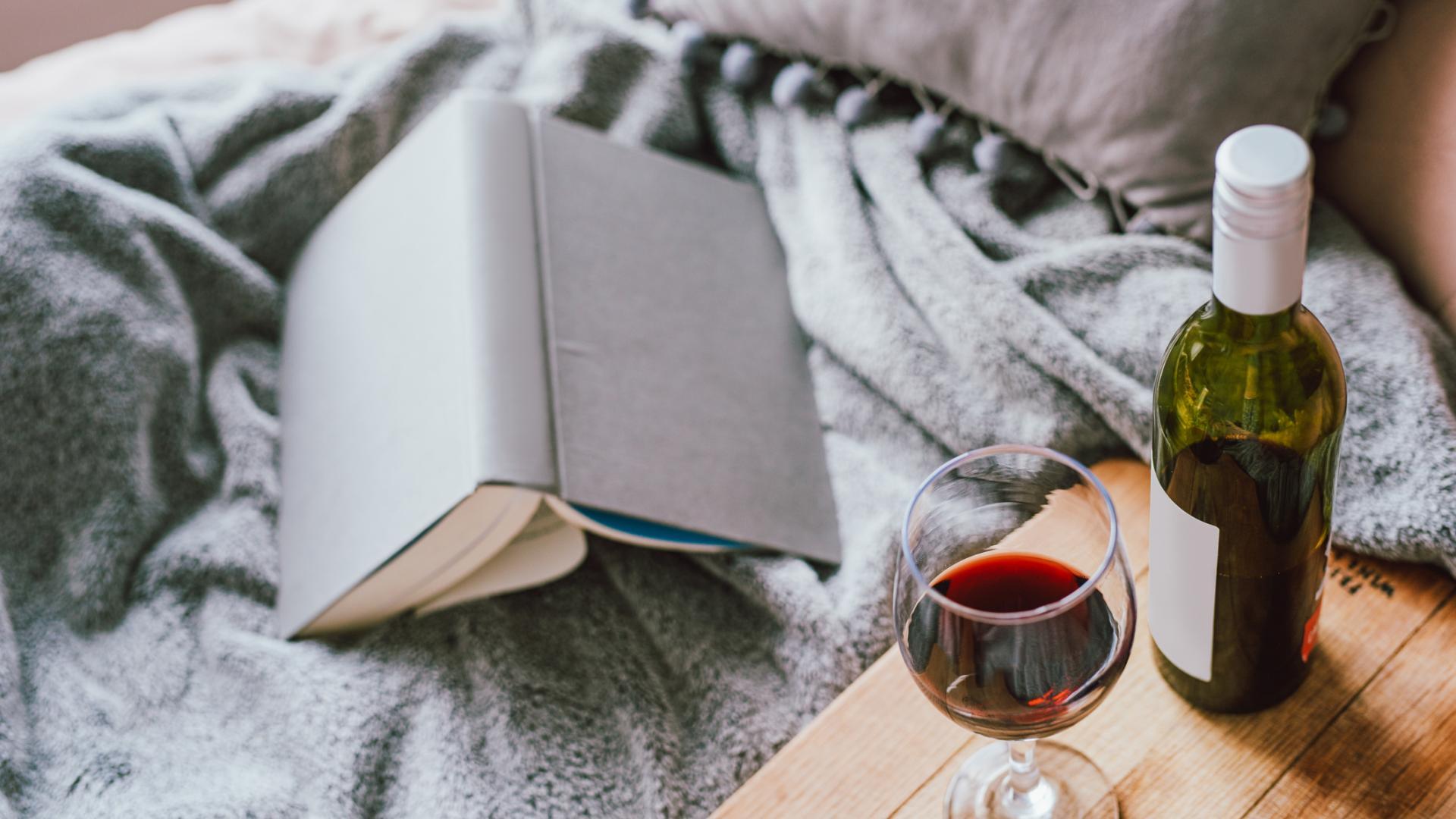 Wein Buch Bett