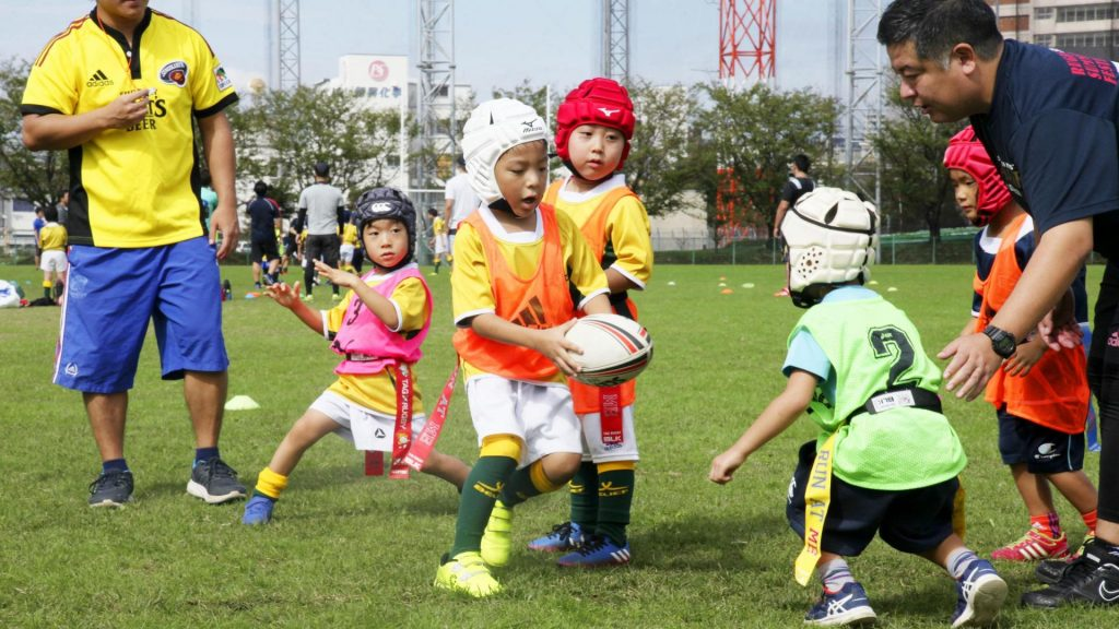 Kinder, Tokio, Sport, Rugby, Japan, Japaner