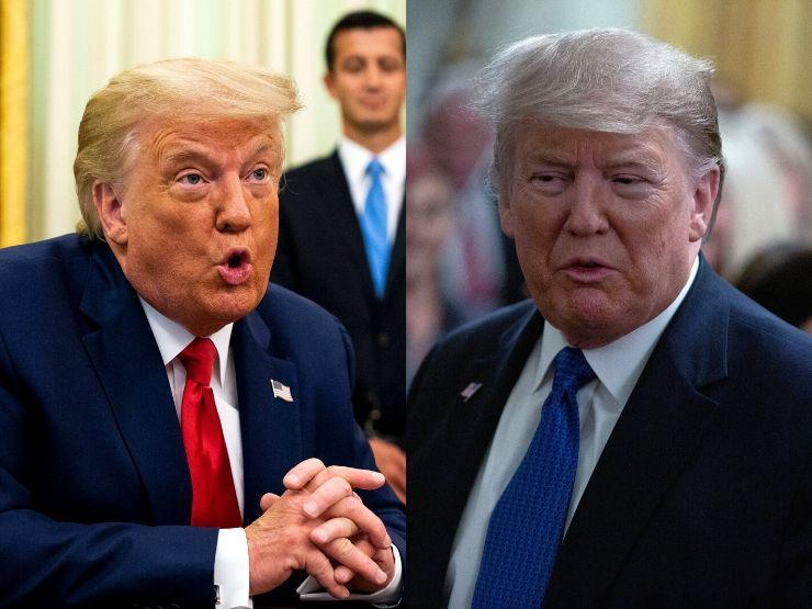 Donald Trump im Vorher/Nachher-Vergleich
