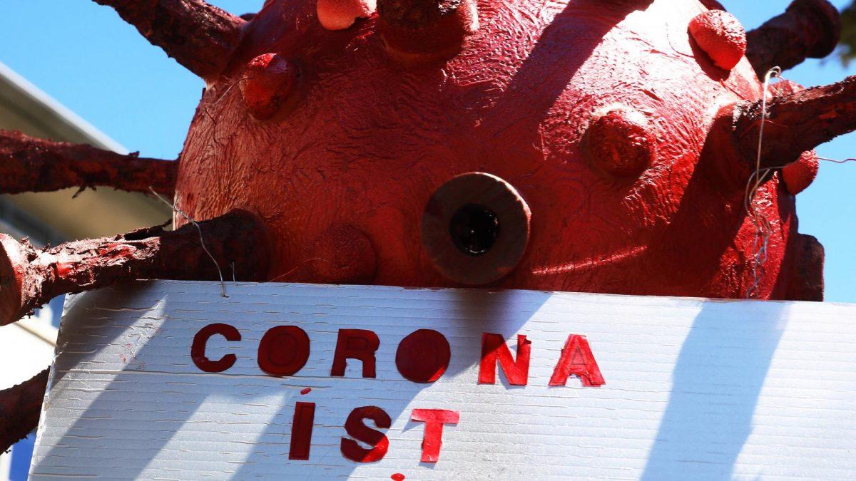 Coronavirus Spruch Pappfigur