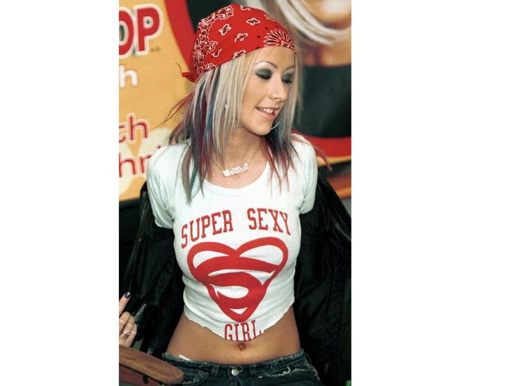 2000er Mode, Modesünden, Christina Aguilera, Sexy Girl, Tshirt
