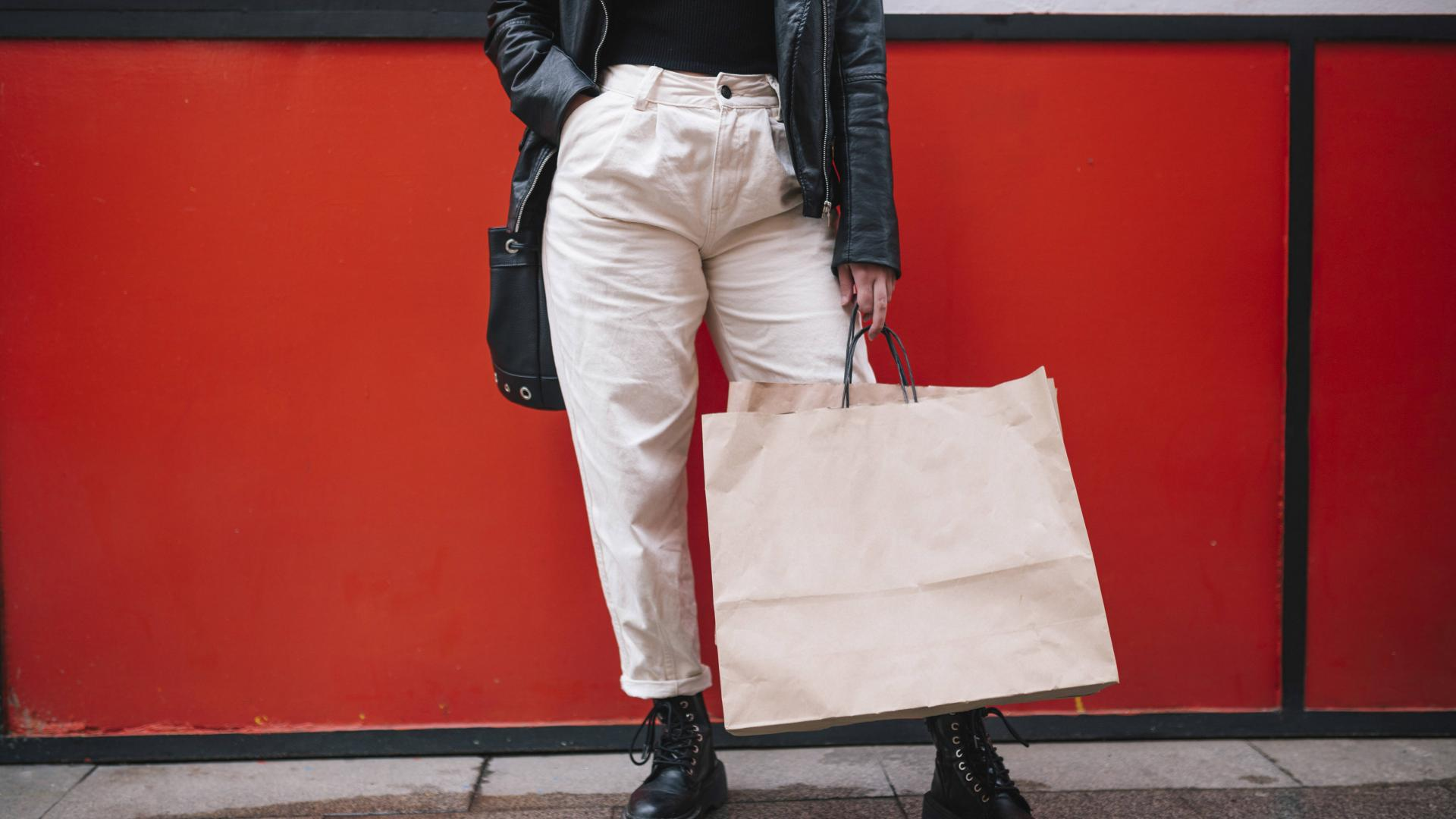 Frau Shoppingbag