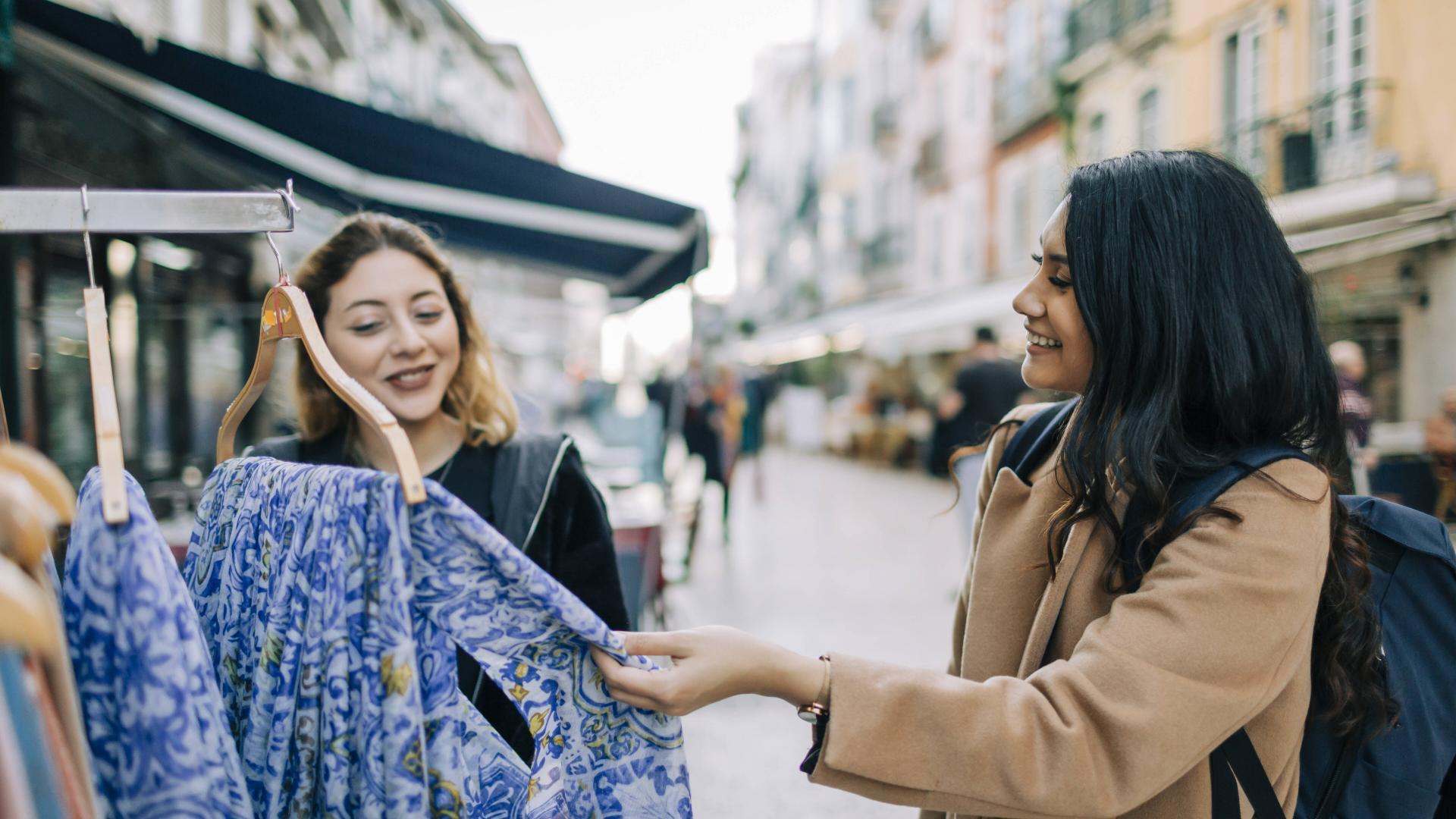 Frauen Shopping