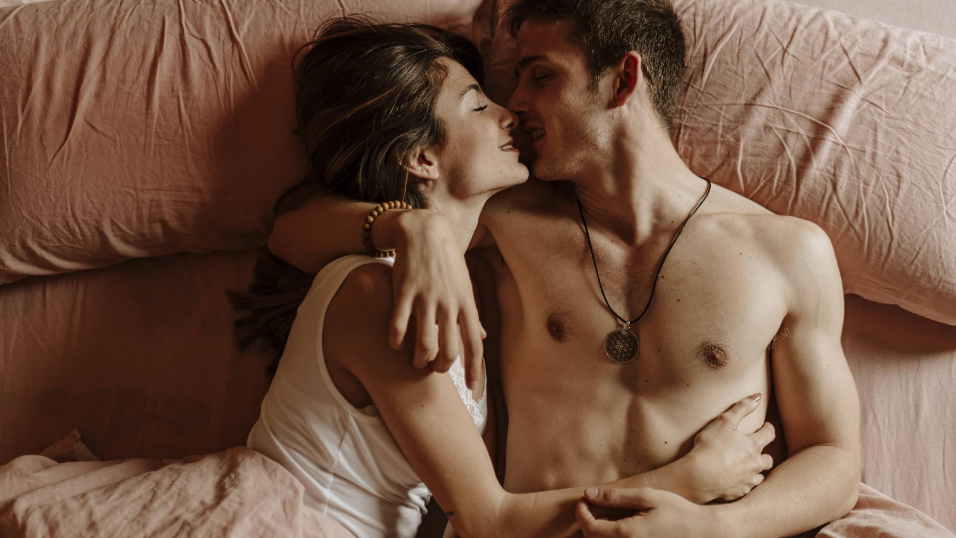 Couple Bed happy