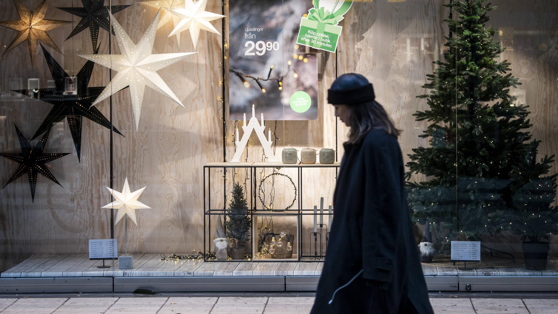 Frau Straße Weihnachten
