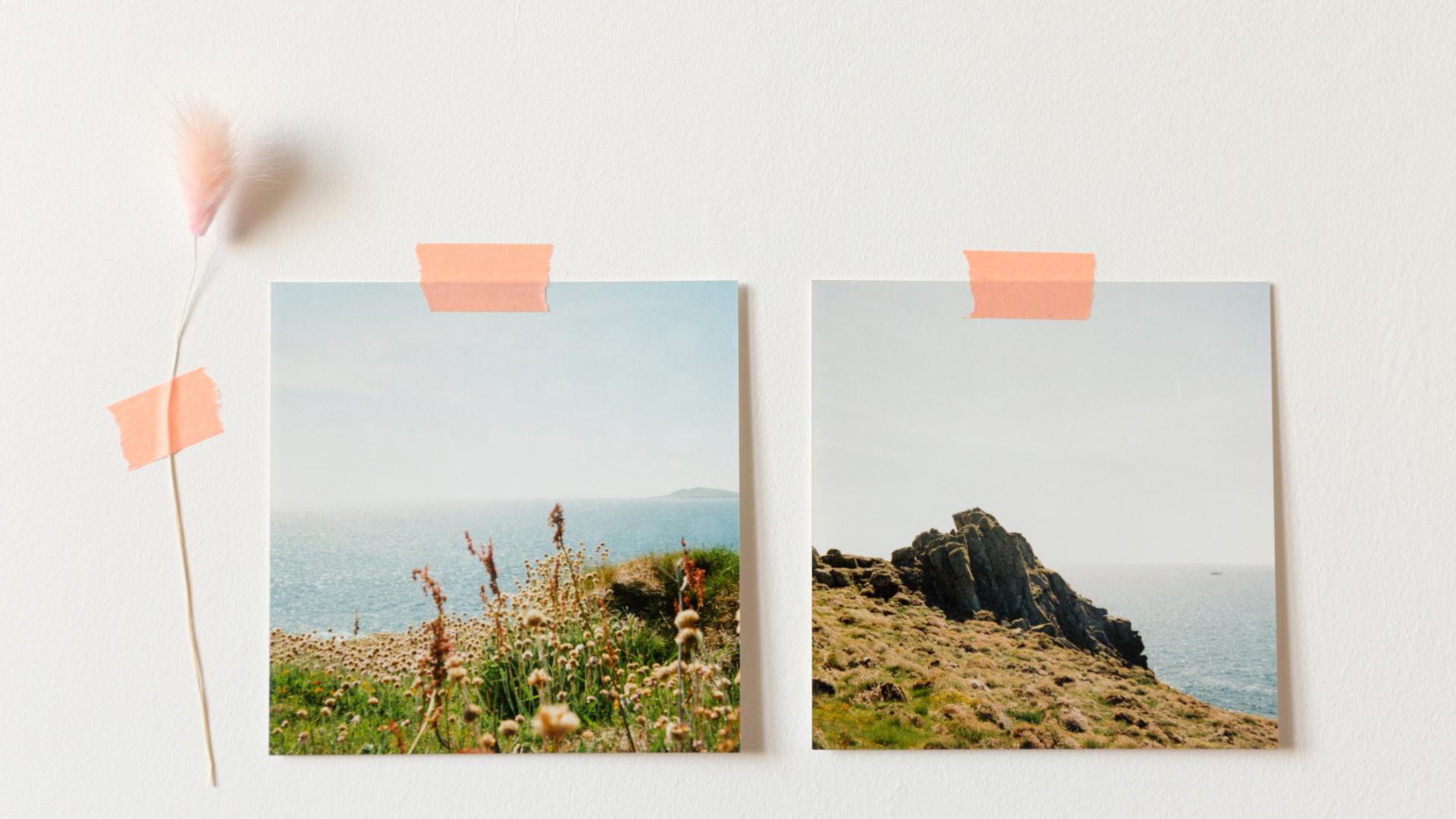 Urlaub Bilder an der Wand