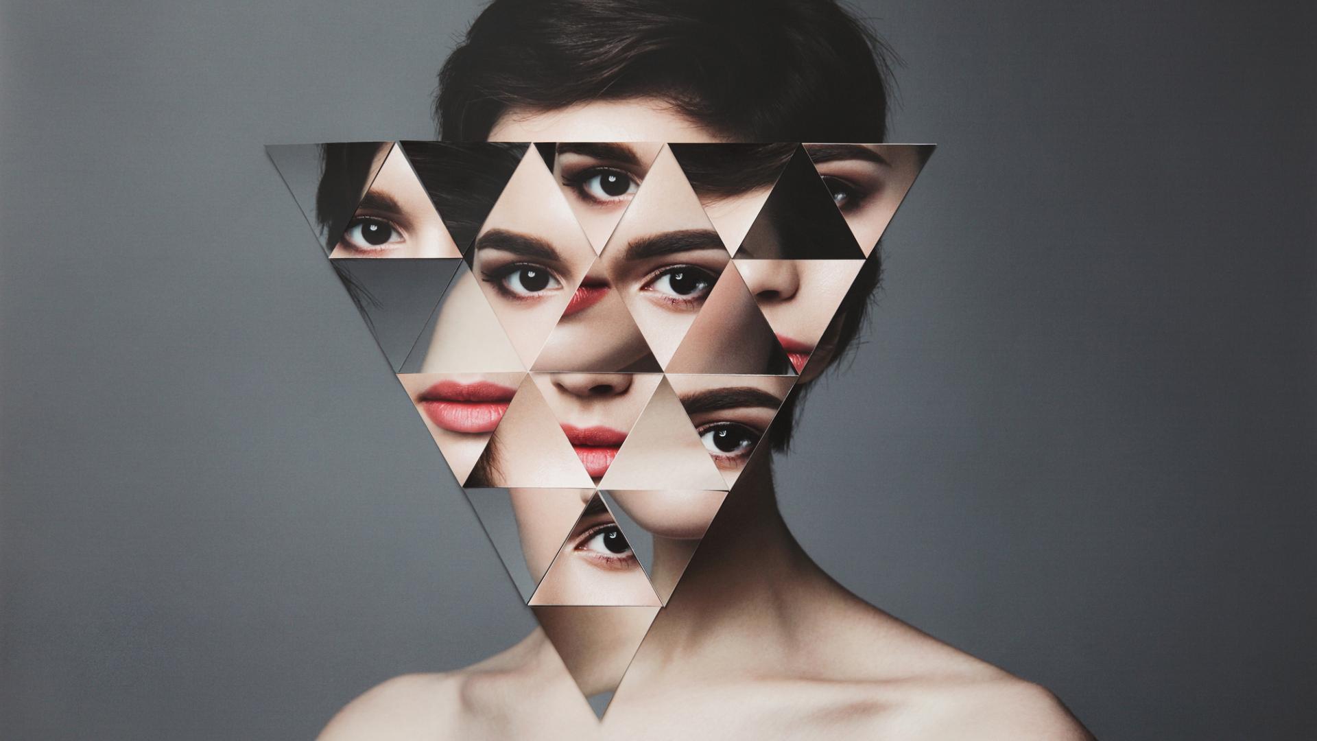 Frau Gesicht Splitter