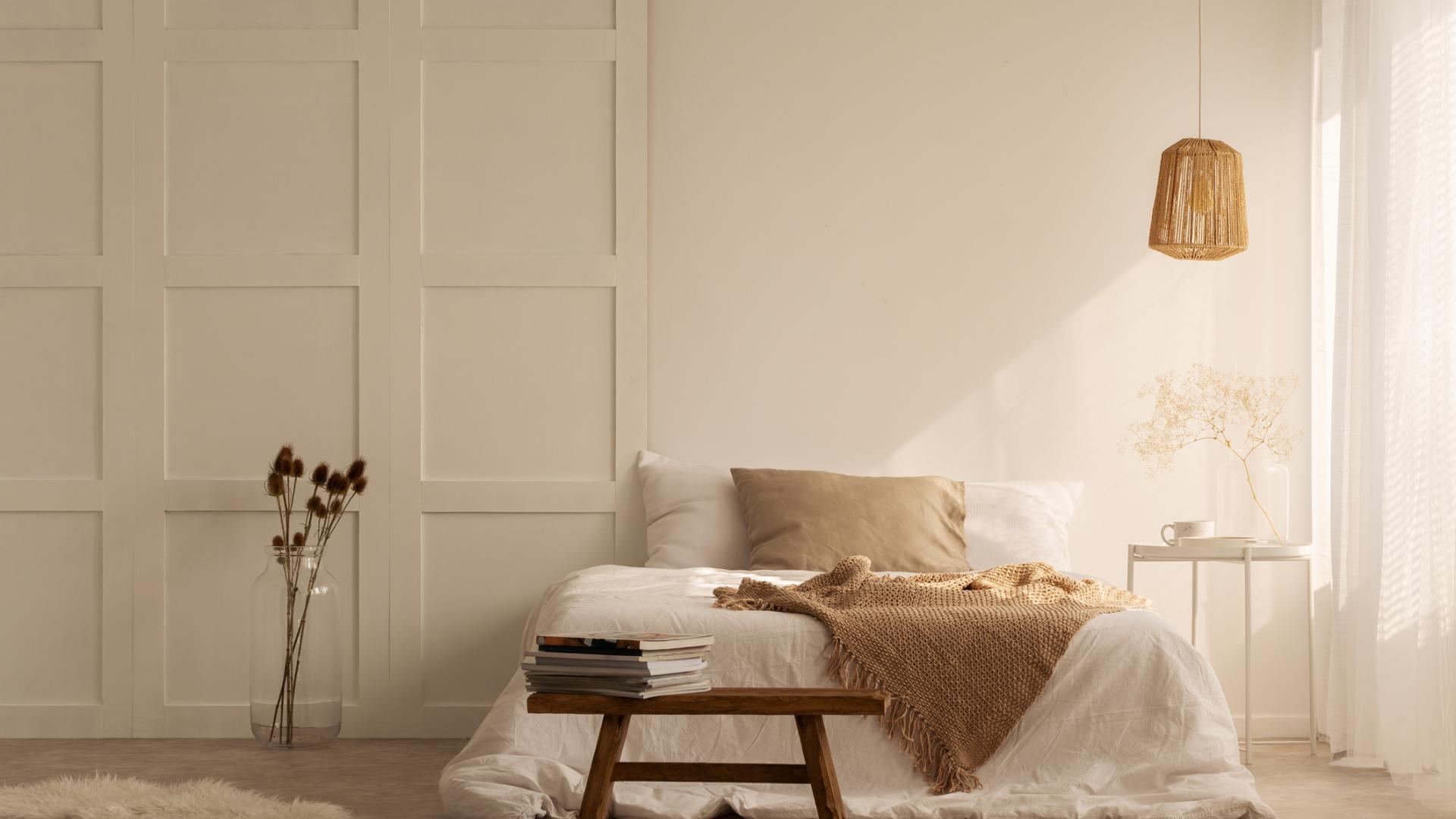 Wohntrends 2021, Minimalismus, Beige, Schlafzimmer