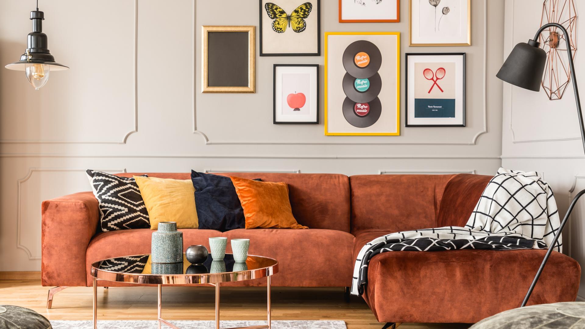 Wohntrend 2021, Wohnzimmer, Sofa, Samt