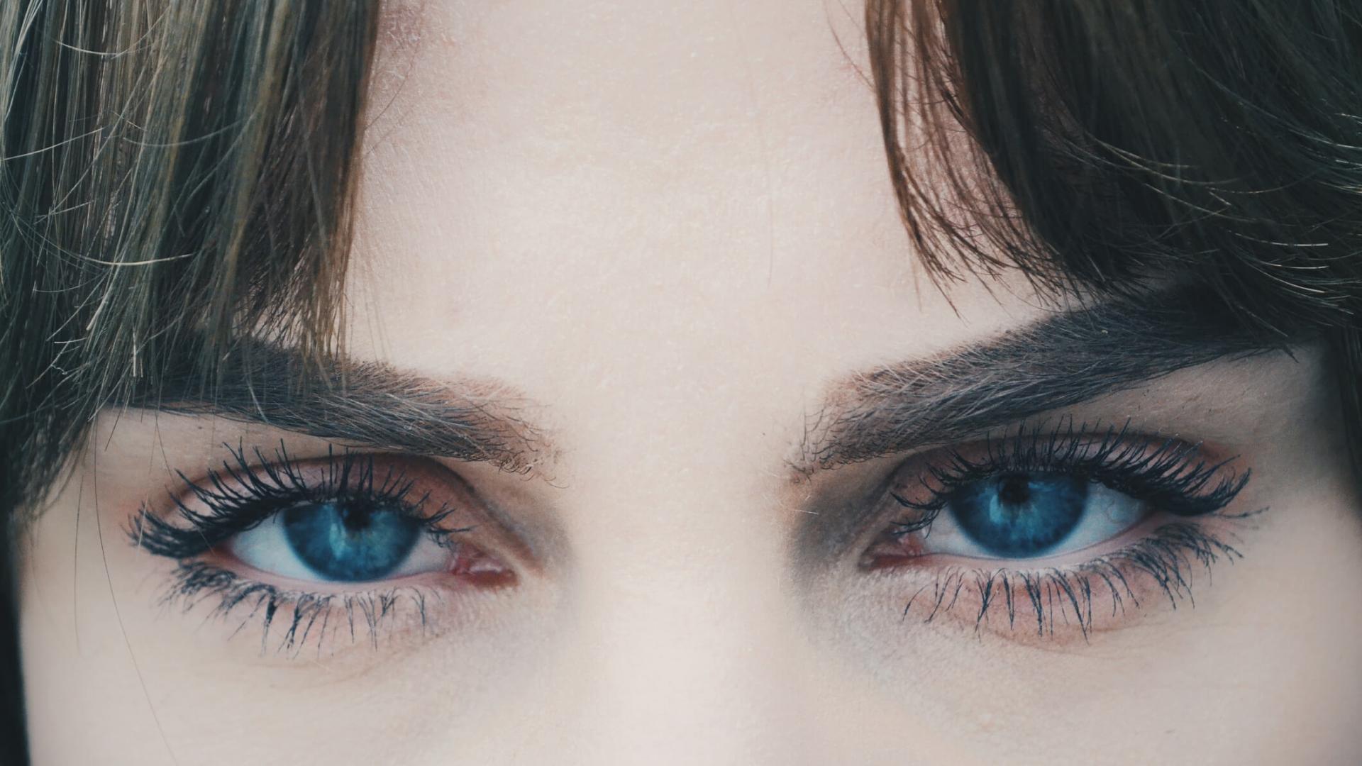 Augen, Frau, Augenbrauen