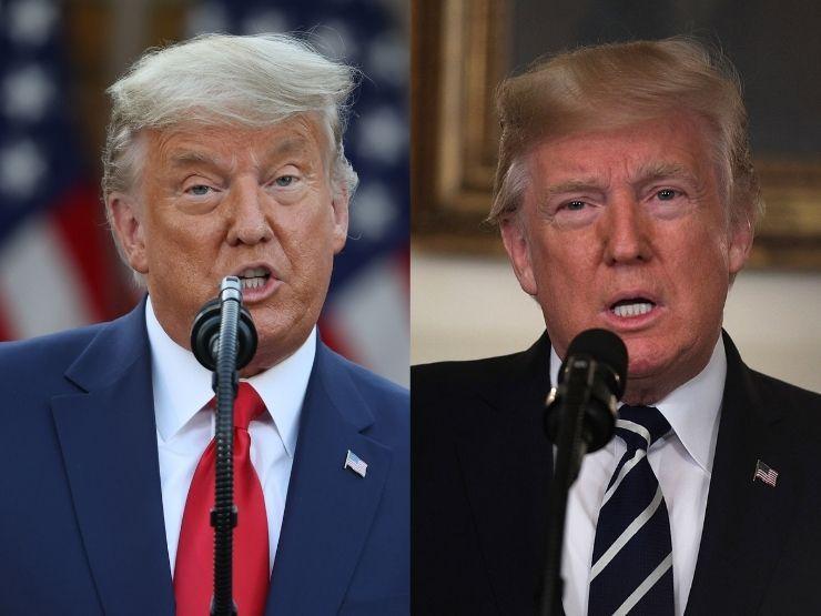 Donald Trump 2021 und 2017