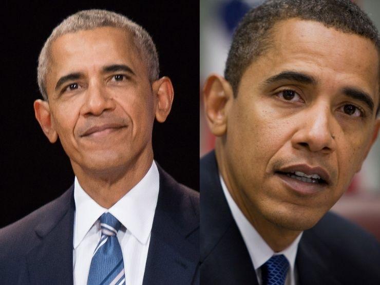 Barack Obama 2017 und 2009