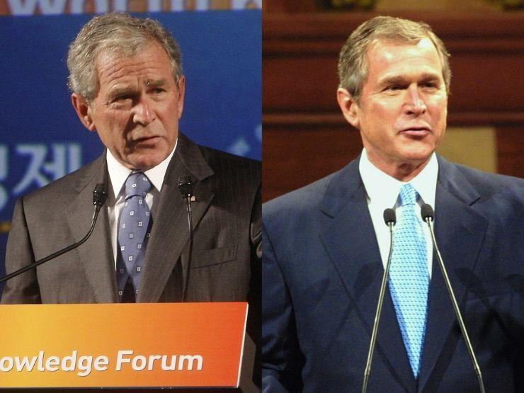 Geroge W. Bush 2009 und 2001