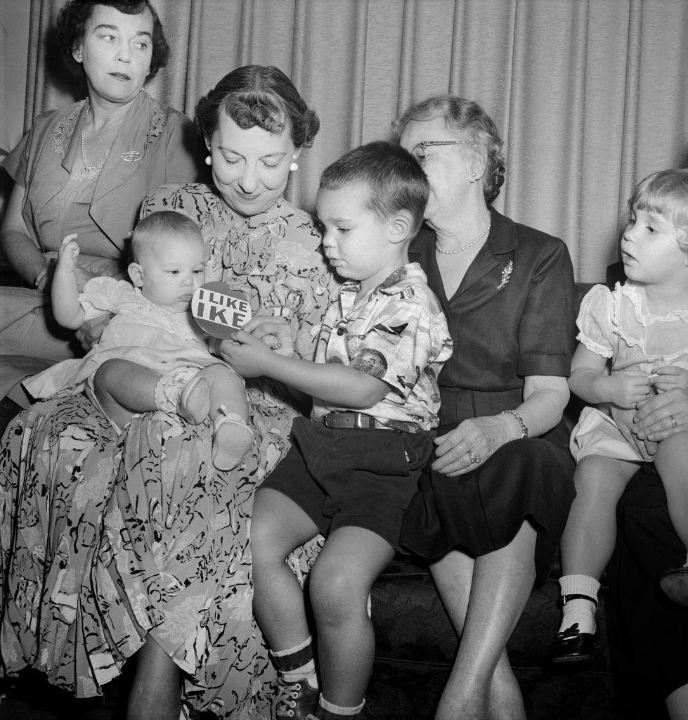 50er jahre retro familie kinder eltern