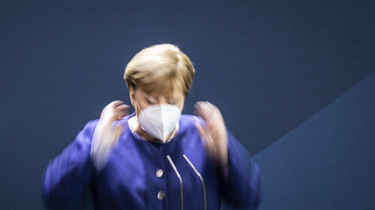Angela Merkel, Bundeskanzlerin, aufgenommen im Rahmen eines Pressestatements zum Ergebnis der US-Wahl, in Berlin, 09.11