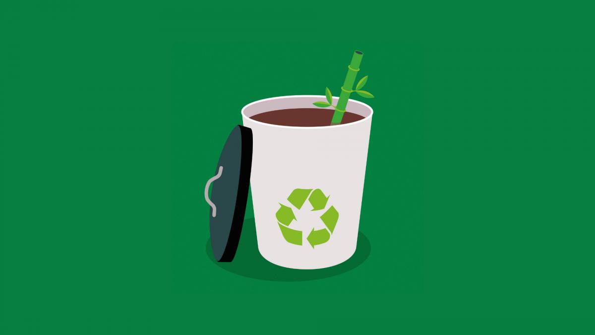 Bambus-Geschirr, Teaser, Coffee-to-go-Becher