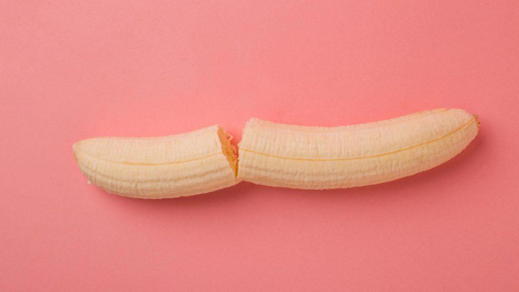 Banane gebrochen