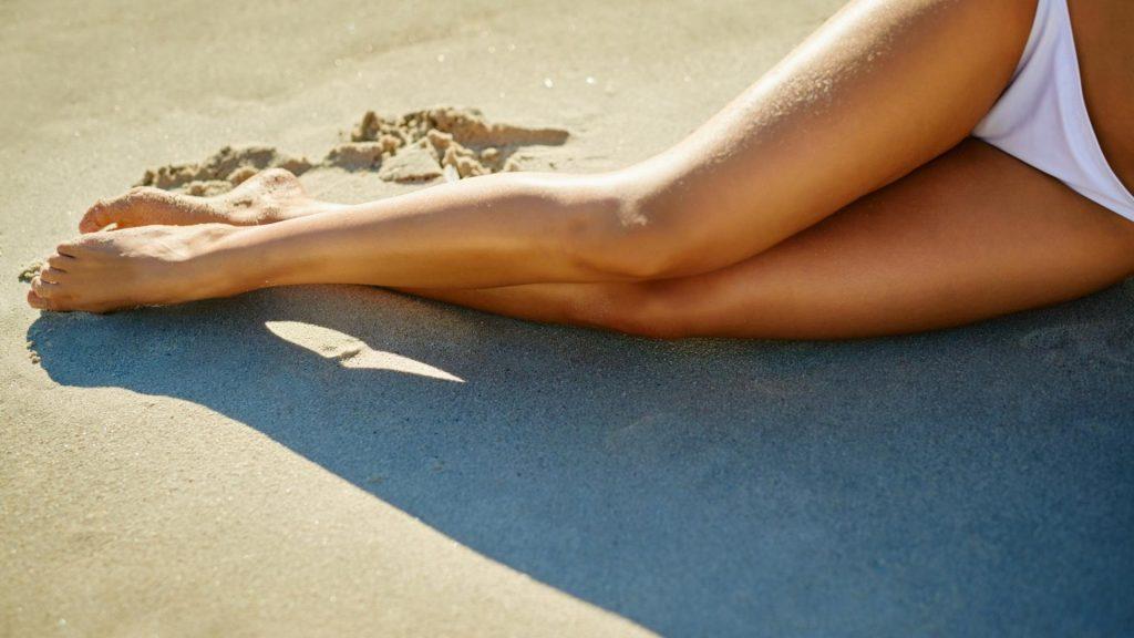 Beine Strand Beine Frau gebräunt sonne