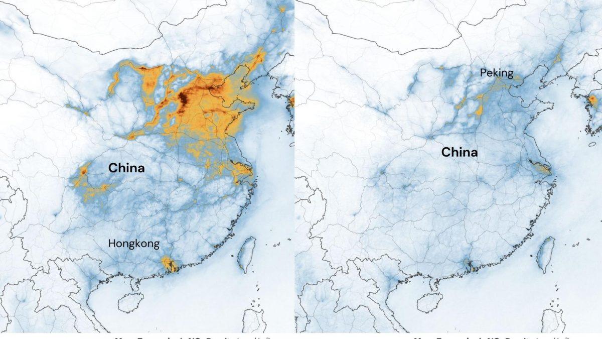China Karte Corona