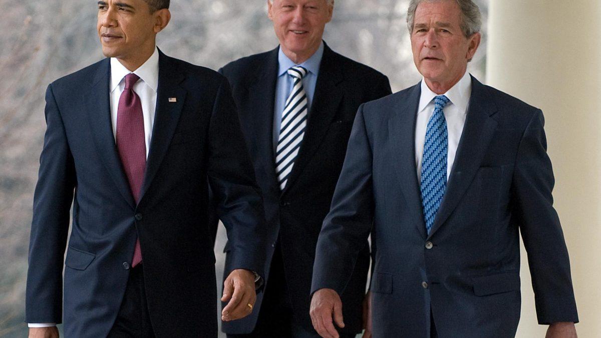 Clinton, Obama, Bush