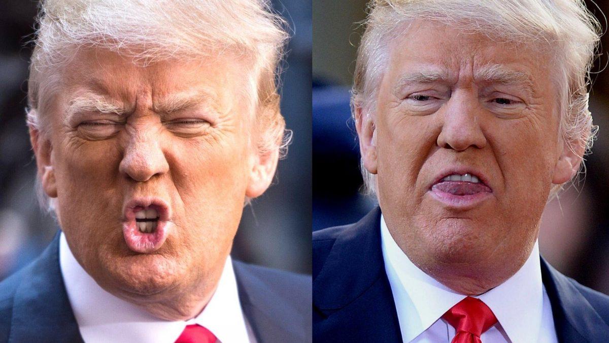 Donald Trump gesicht verrückt