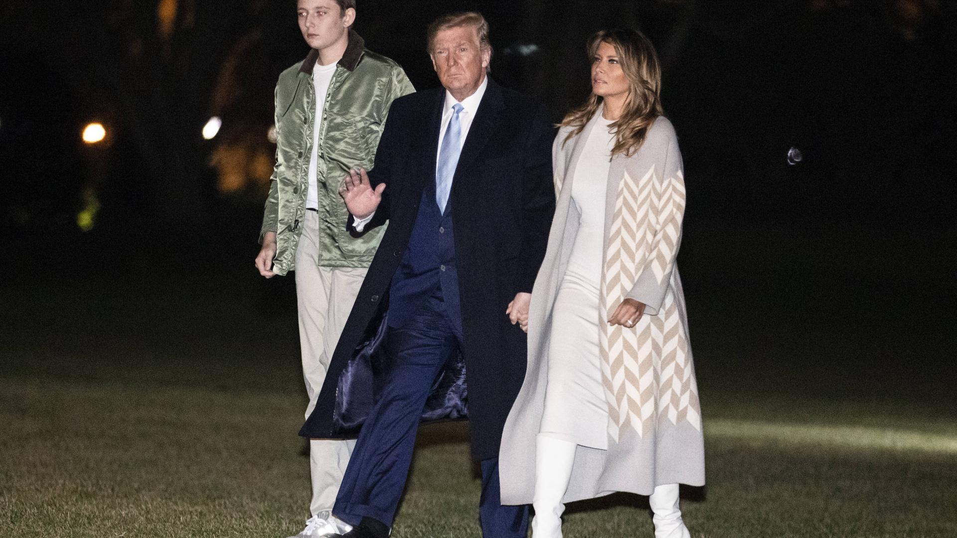 Donald Trump melania und sohn