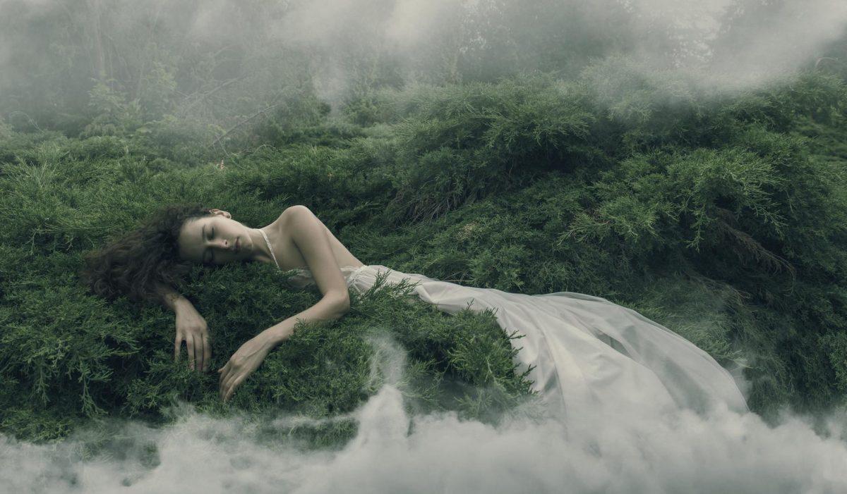 Einschlafen Schlafen Müde Einschlafprobleme Natur Elfe Nebel Wald