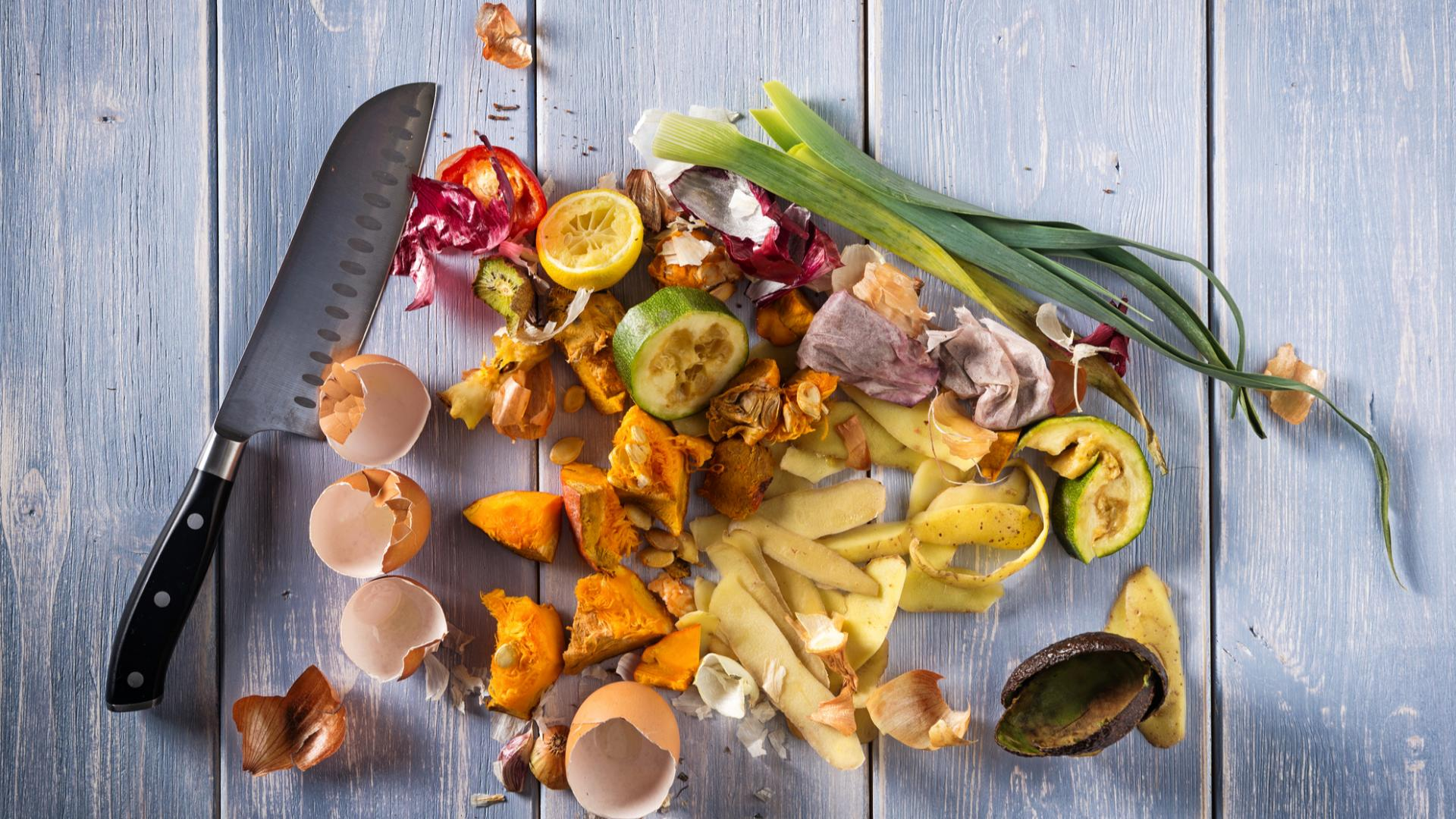 Essensreste Lebensmittel Müll Abfall