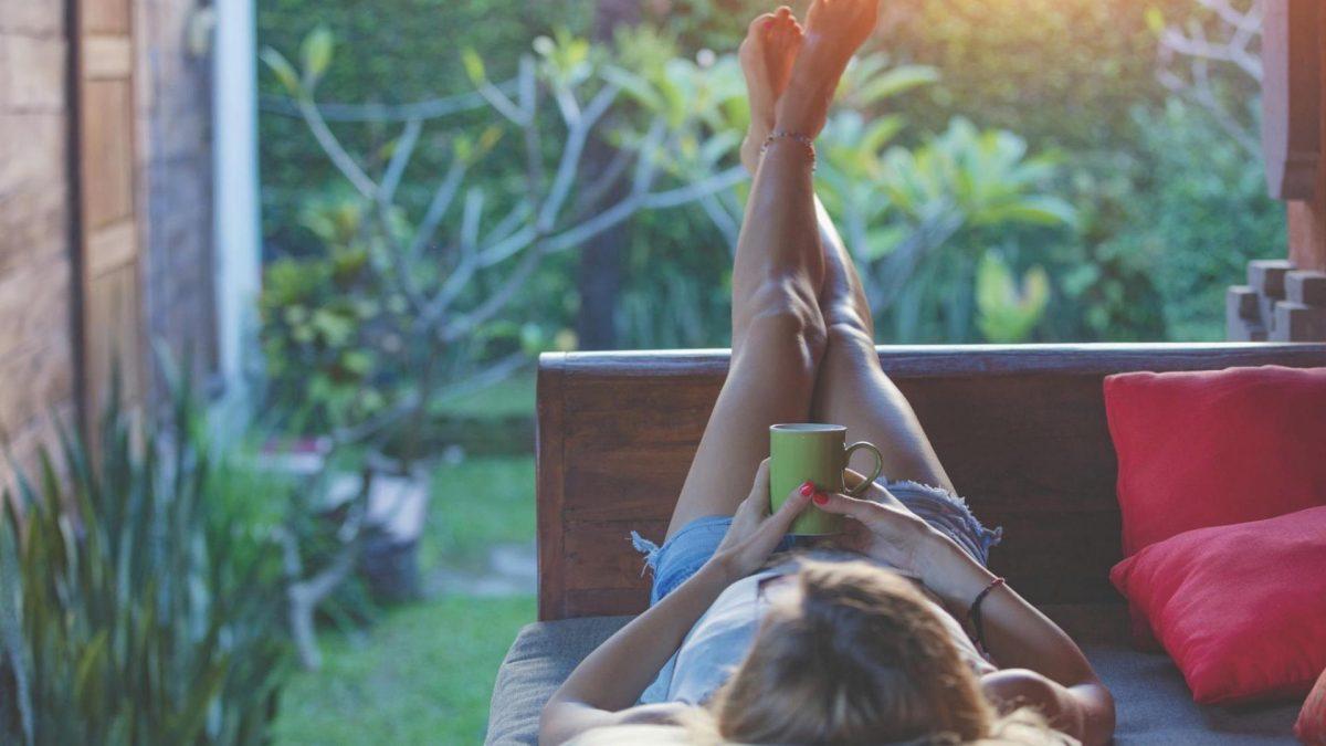 Frau Garten Entspannen