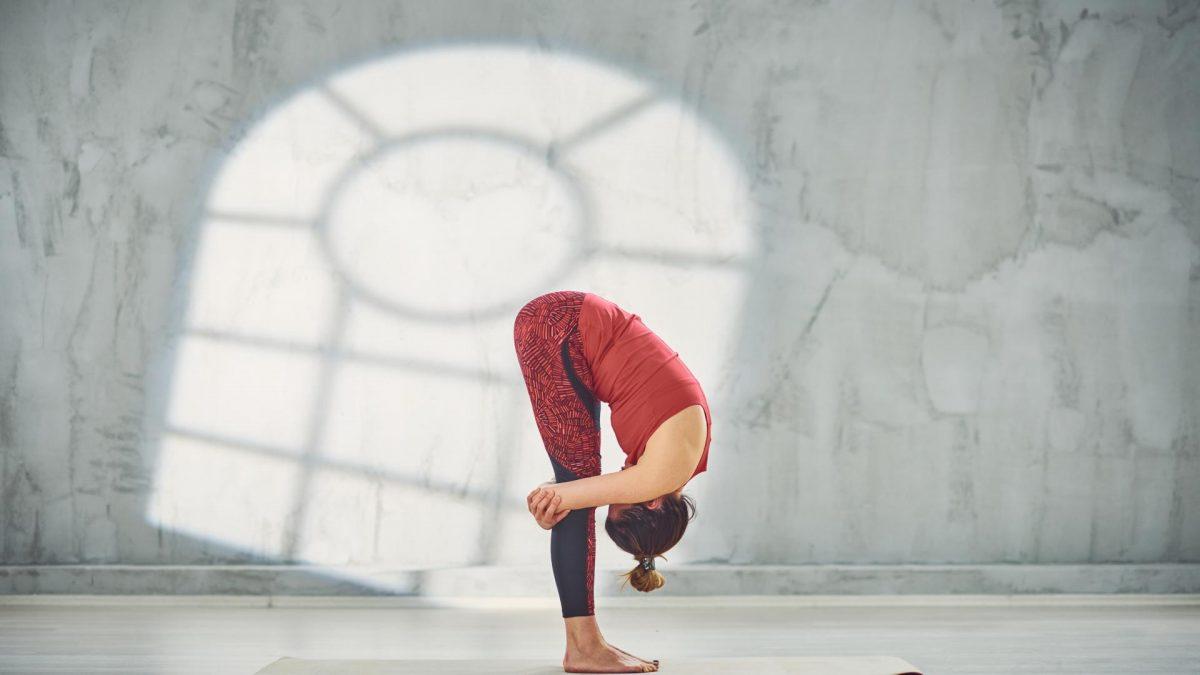 Frau Yoga Stretching Pose