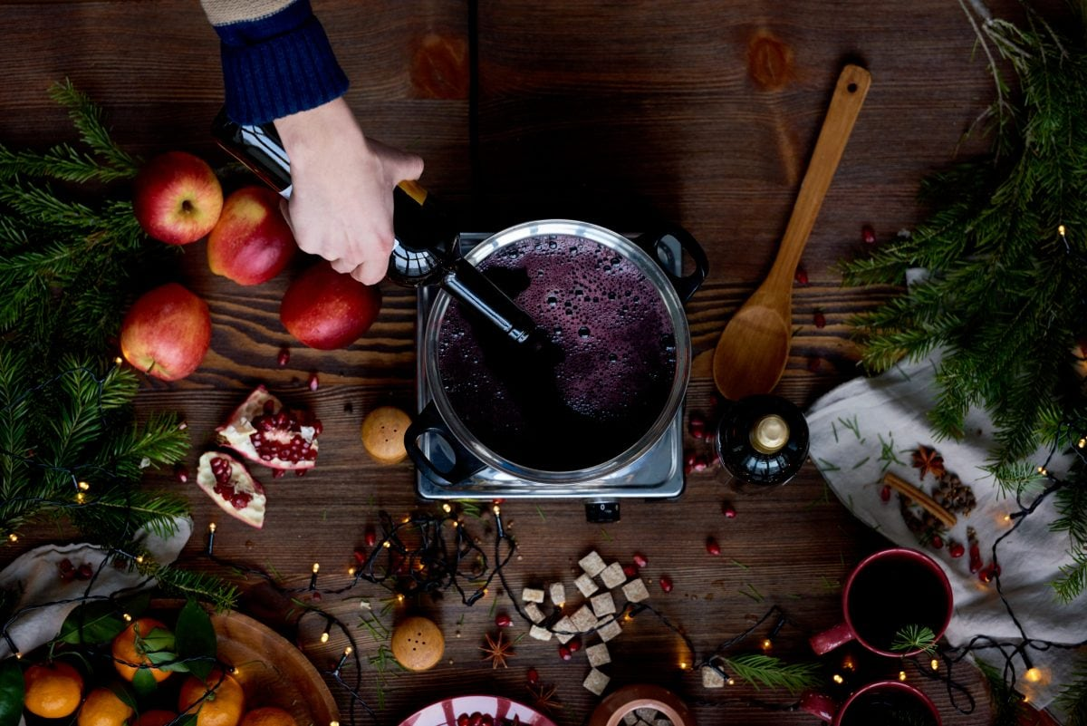 Glühwein weihnachten kochen alkohol