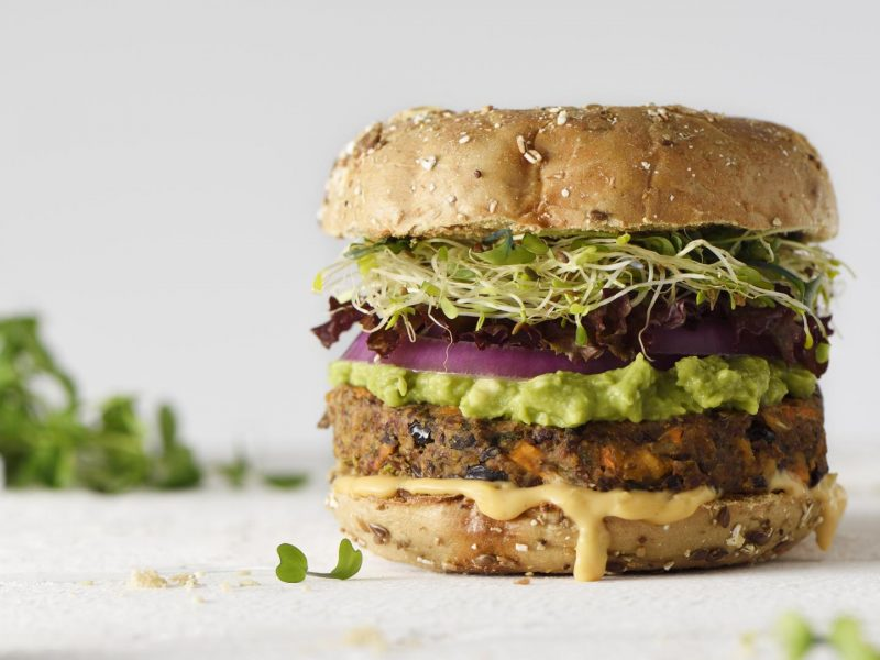 Healthy veggie burger slow food gesund lecker essen