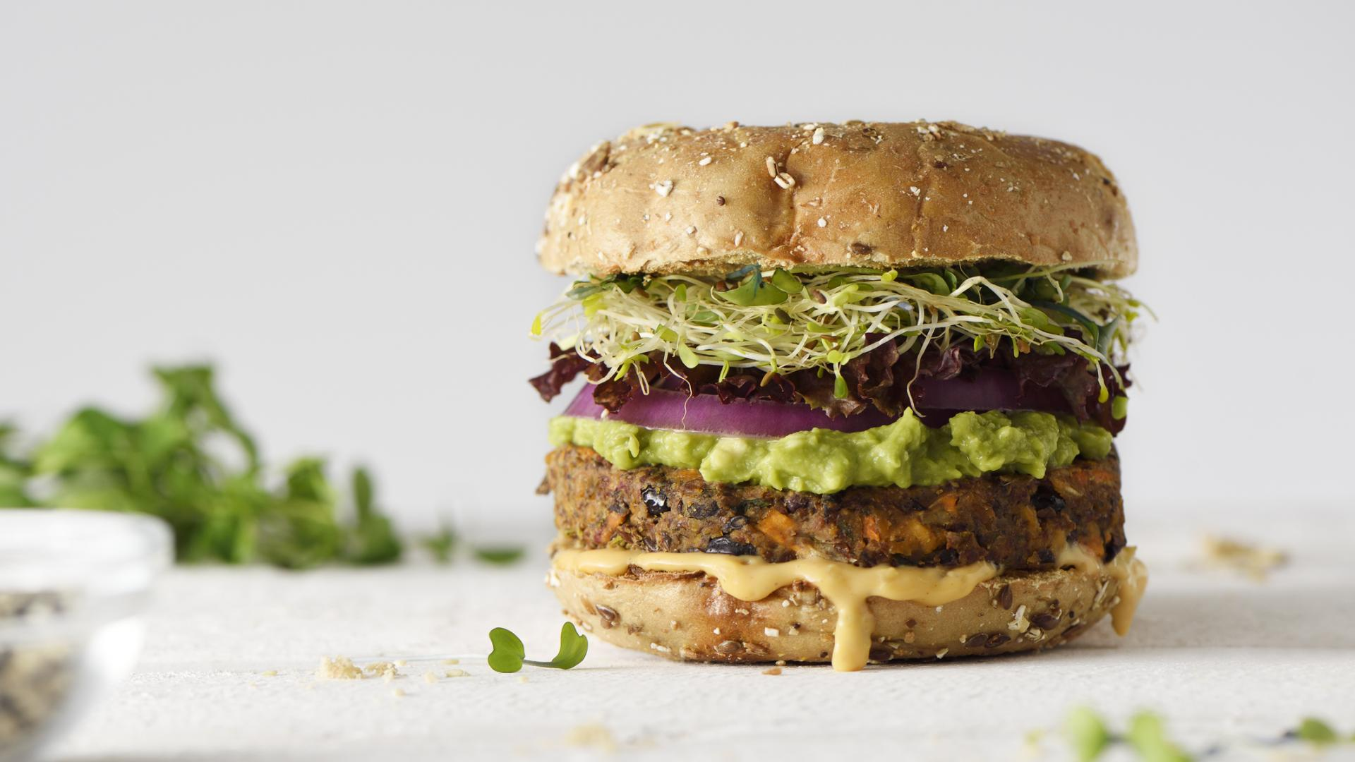 Healthy veggie burger slow food gesund lecker essen