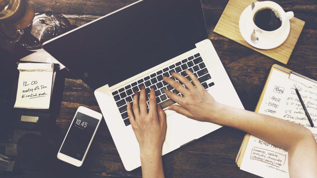Home Office Laptop Arm Handy Kaffee