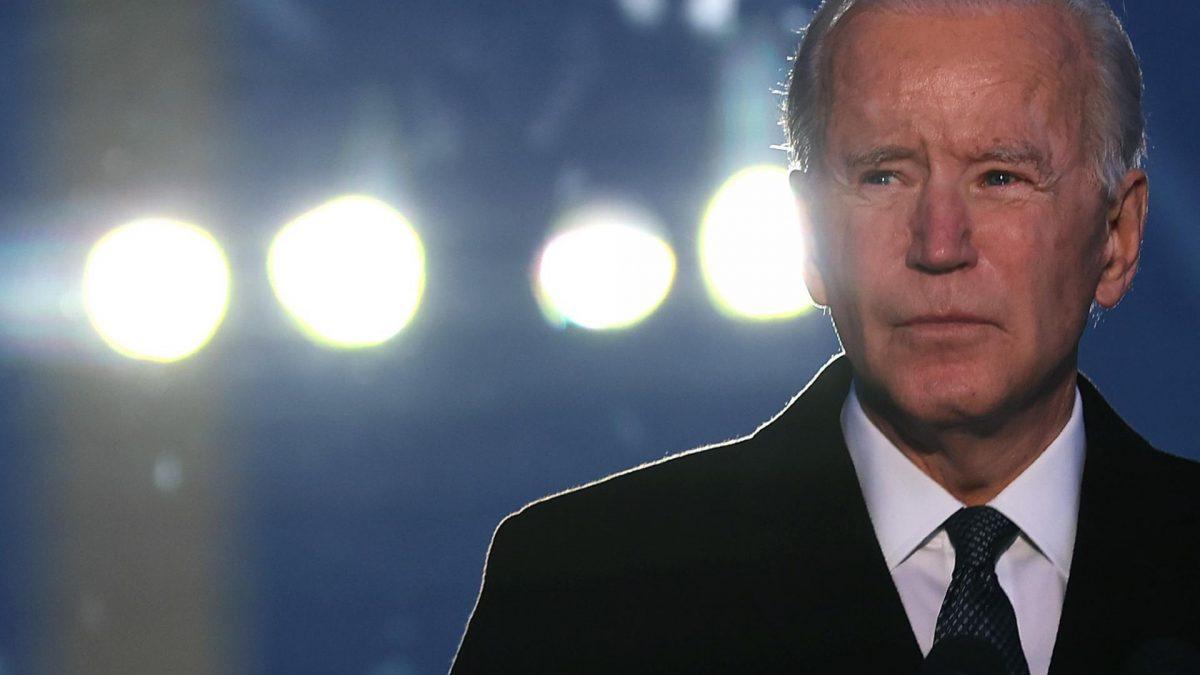 Joe Biden am Abend vor seiner Amtseinführung