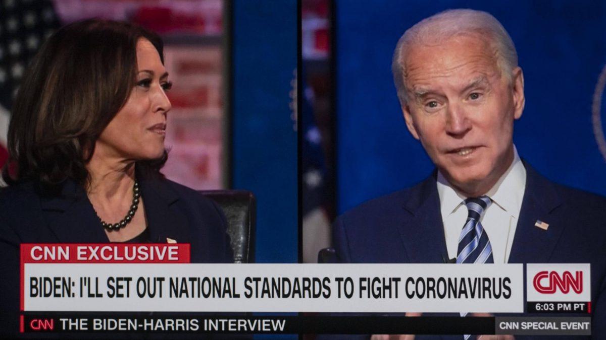"""Joe Biden und Kamala Harris stehen auf dem Treppchen der """"Persons of the year."""""""