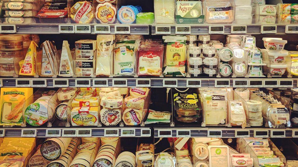Käse supermarkt